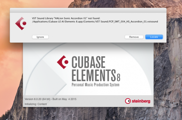 Cubase LE AI Elements 8.0.20 2