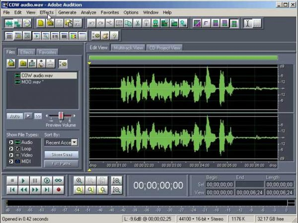 Adobe Audition v1.5 7