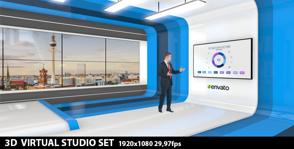Element 3D Broadcast Studio Pack - After Effects Projects 5