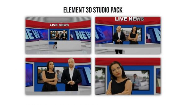 Element 3D Broadcast Studio Pack - After Effects Projects 2