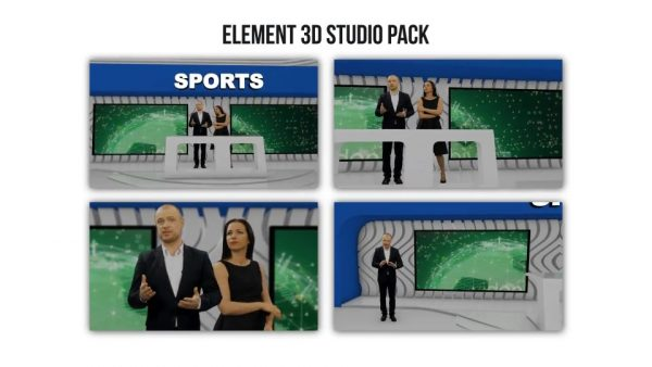 Element 3D Broadcast Studio Pack - After Effects Projects 3