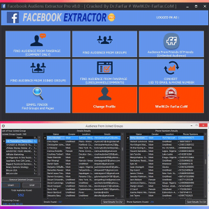 Facebook Audiens Extractor Pro
