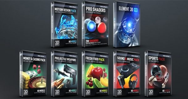 Element 3D Broadcast Studio Pack - After Effects Projects 7